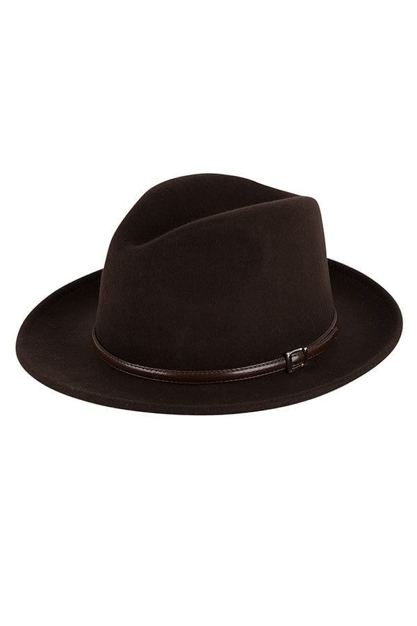 Italiaanse hoed bruin