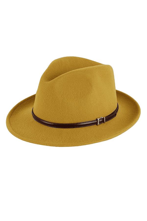 klassieke Italiaanse hoed okergeel
